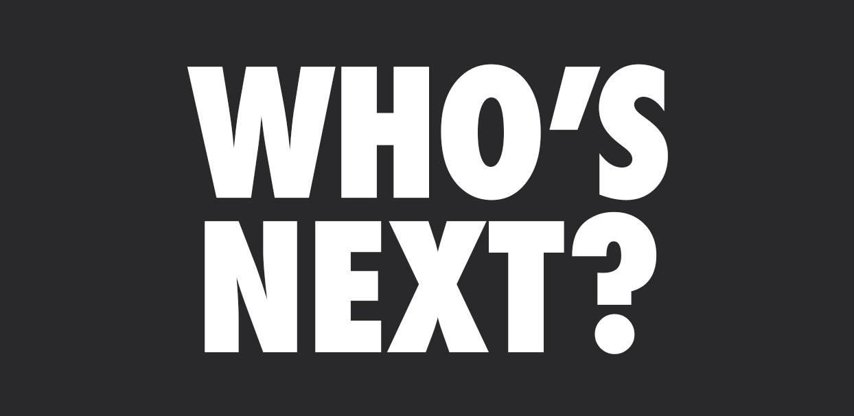 Who's Next Book by Paul Barter